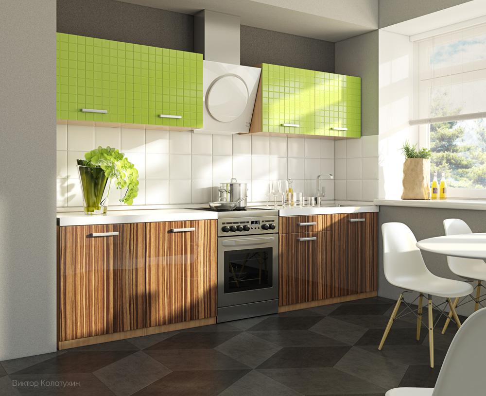 Кухонный гарнитур зебрано фото